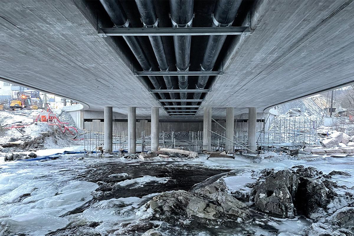 Heinsen og Agger kunde Oslo Fjord Varme E16 Sandvika